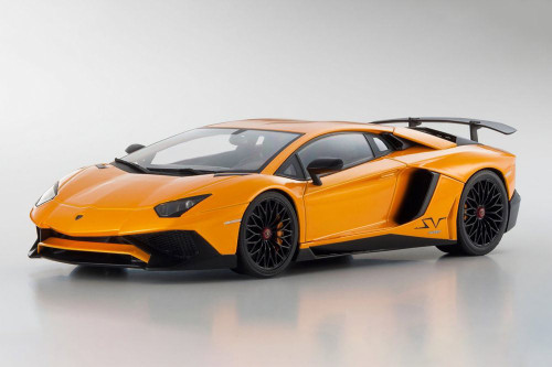 Lamborghini Aventador LP 750-4 Superveloce Hardtop, Orange - Kyosho C09521P - 1/18 scale Resin Model Toy Car