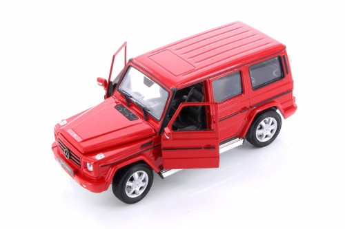 Mercedes-Benz G Class Wagon Hardtop, Red - Welly 24012WR - 1/24 scale Diecast Model Toy Car