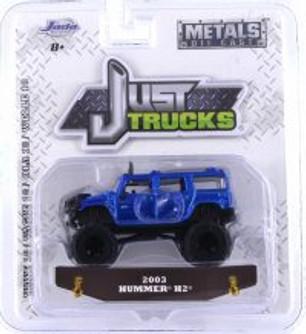 2003 Hummer H2, Blue - Jada 14020-W18 - 1/64 scale Diecast Model Toy Car