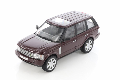 2003 Land Rover Range Rover SUV with Sunroof, Burgundy - Welly 22415/4D - 1/24 scale Diecast Model Toy Car