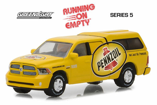 2018 Ram 1500 with Camper, Pennzoil - Greenlight 41050F/48 - 1/64 Scale Diecast Model Toy Car