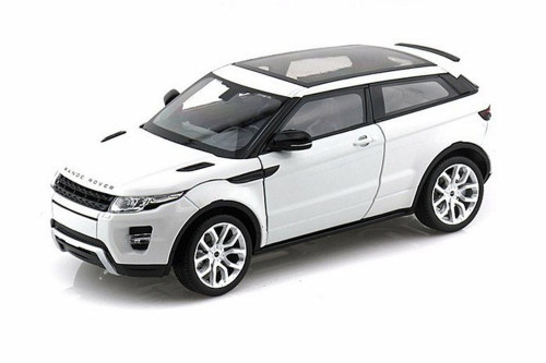 Land Rover Range Rover Evoque SUV w/ Sunroof, White - Welly 24021WWT - 1/24 scale Diecast Model Toy Car