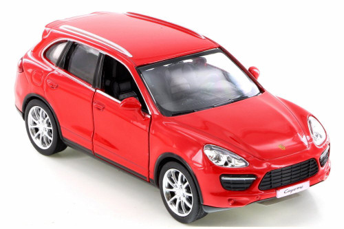 Porsche Cayenne Turbo, Red - RMZ City 555014 - Diecast Model Toy Car