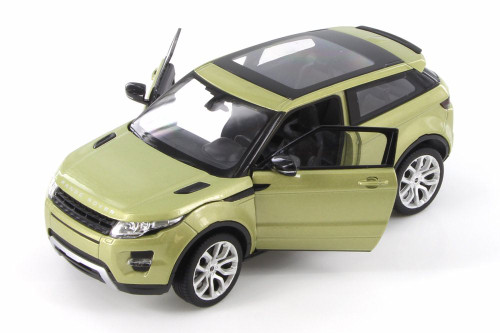 Land Rover Range Rover Evoque SUV w/ Sunroof, Green - Welly 24021WGN - 1/24 scale Diecast Model Toy Car