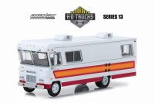 1972 Condor II RV, Orange w/maroon stripes - Greenlight 33130B/48 - 1/64 Scale Diecast Model Toy Car