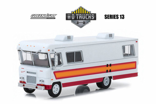 1972 Condor II RV, Orange w/maroon stripes - Greenlight 33130B/48 - 1/64 Scale Diecast Model Toy Car