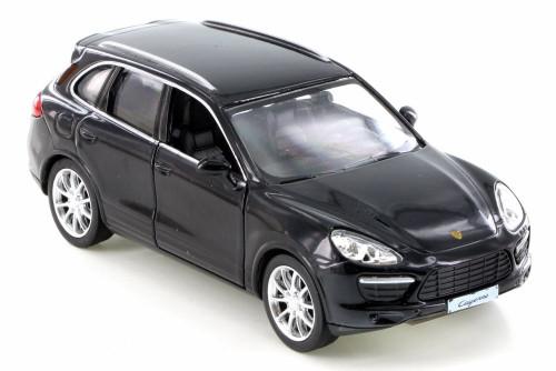 Porsche Cayenne Turbo, Black - RMZ City 555014 - Diecast Model Toy Car