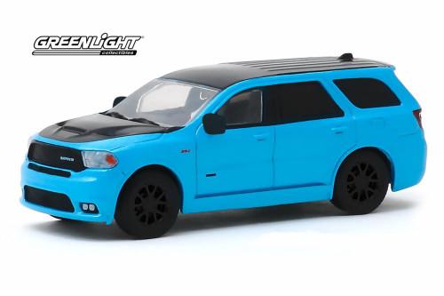 2018 Dodge Durago SRT, Blue and Black - Greenlight 30130/48 - 1/64 scale Diecast Model Toy Car