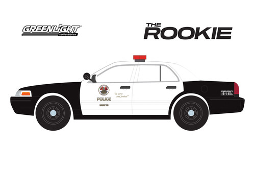 2008 Ford Crown Victoria LAPD, The Rookie - Greenlight 84111 - 1/24 Scale Diecast Model Toy Car