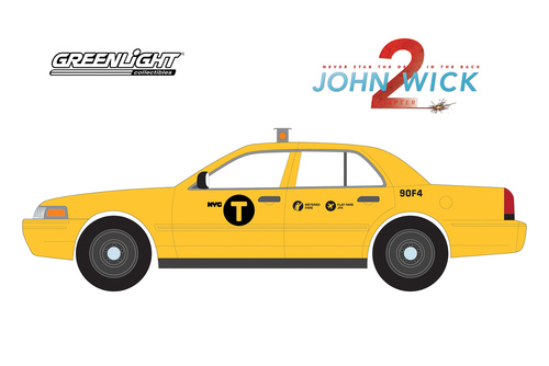 2008 Ford Crown Victoria, John Wick - Greenlight 84113 - 1/24 Scale Diecast Model Toy Car