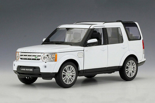 Land Rover Discovery 4, White - Welly 24008/4D - 1/24 scale Diecast Model Toy Car