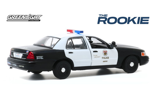 LAPD 2008 Ford Crown Victoria Police Interceptor, The Rookie - Greenlight 86586 - 1/43 scale Diecast Model Toy Car