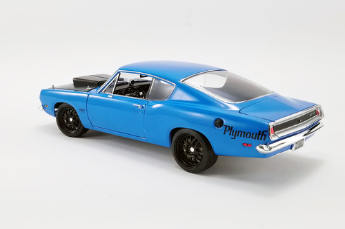 1969 Plymouth Barracuda Street Fighter Hardtop, Petty Blue - Acme A1806117 - 1/18 scale Diecast Model Toy Car
