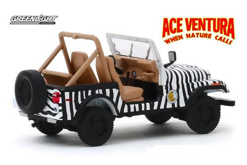 "1976 Jeep CJ-7, Ace Ventura ""When Nature Calls"" - Greenlight 86574 - 1/43 scale Diecast Model Toy Car"