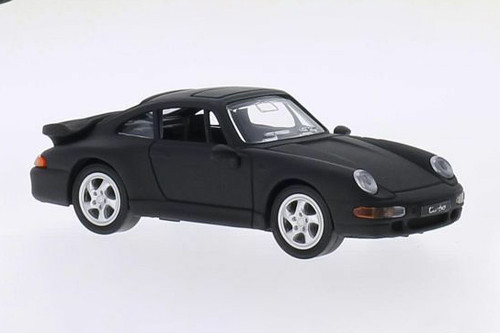 1996 Porsche 911 Turbo (993) Hardtop, Matte Black - Lucky Road Signature 94219MBK - 1/43 scale Diecast Model Toy Car