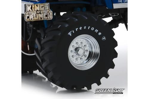 Monster Truck Firestone Wheel & Tire Set, Black - Greenlight 13546 - 1/18 scale Diecast Accessory