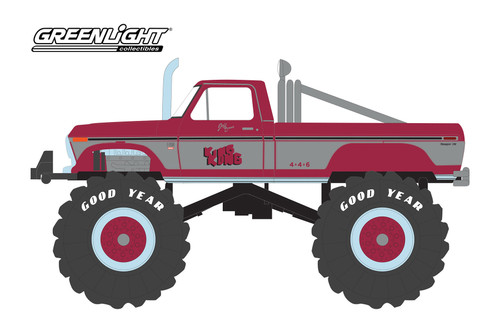 1975 Ford Ford F-250 Monster Truck (with 66-Inch Tires), King Kong - Greenlight 88032 - 1/43 scale Diecast Model Toy Car