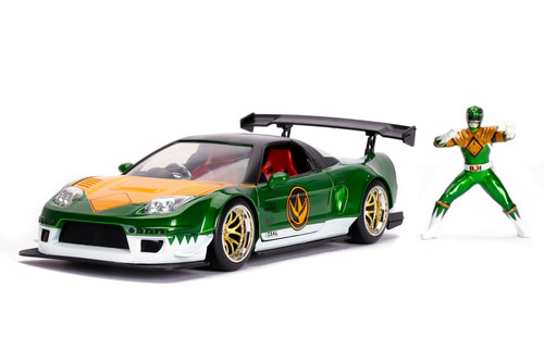 2002 Honda NSX Type-R Japan Spec with Power Rangers Ranger figure, Power Rangers - Jada Toys 31909 - 1/24 scale Diecast Model Toy Car