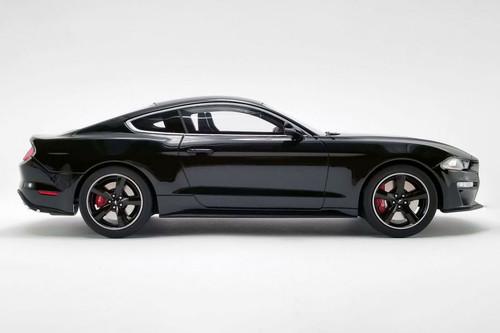 2019 Ford Mustang Bullitt Hardtop, Shadow Black - GT Spirit US017B - 1/18 scale Resin Model Toy Car