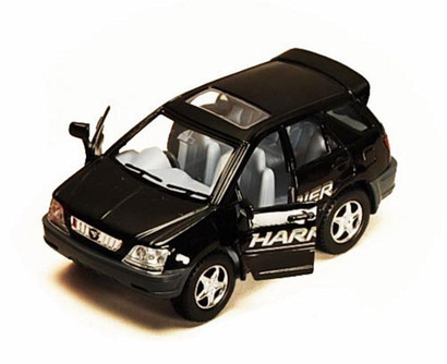 Funny Collection Toyota Harrier, Black - Kinsmart 4008/16D - 3.75 Inch Scale Diecast Model Replica