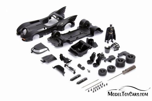 Batmobile Buildable Diecast Kit with Batman Figure, 1989 Batman - Jada 30874 - 1/24 Scale Diecast Model Toy Car
