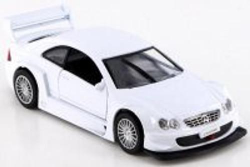 Mercedes-Benz CLK-DTM, White - SAICO DP5301D - 1/34 Scale Diecast Model Toy Car