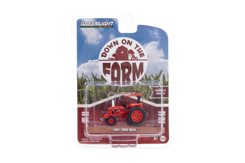 Kansas Department of Transportation 1987 Ford 5610 Tractor, Red - Greenlight 48040/48 - 1/64 scale Diecast Model Toy Car