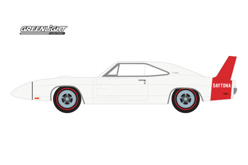 1969 Dodge Charger Daytona (Kissimmee 2020 Lot #S184), White - Greenlight 37210B/48 - 1/64 scale Diecast Model Toy Car