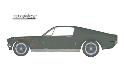 1968 Ford Ford Mustang GT, Bullitt - Greenlight 37210A/48 - 1/64 scale Diecast Model Toy Car