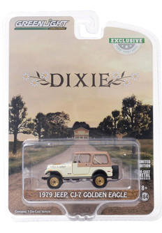1979 Jeep CJ-7 Golden Eagle Dixie, White - Greenlight 30175/48 - 1/64 scale Diecast Model Toy Car