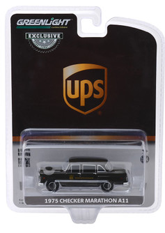 1975 Checker Taxi Cab Parcel Delivery, UPS - Greenlight 30128/48 - 1/64 scale Diecast Model Toy Car