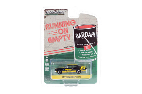 1972 Chevy Nova, Bardahl - Greenlight 41110/48 - 1/64 scale Diecast Model Toy Car