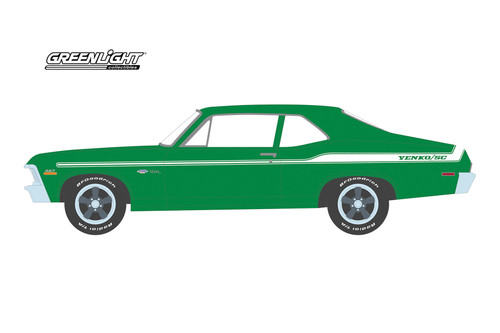 1972 Chevy Nova (Kissimmee 2020 Lot #J19), Green - Greenlight 37210E/48 - 1/64 scale Diecast Model Toy Car