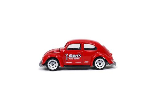 Volkswagen Beetle, Red - Jada Toys 14051W1 - 1/64 scale Diecast Model Toy Car