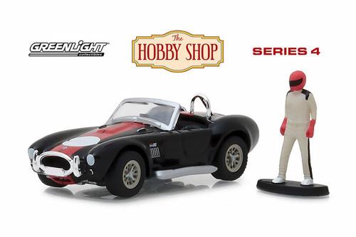 1965 Shelby Cobra 427 S/C, Black w/red stripe - Greenlight 97040A/48 - 1/64 Scale Diecast Model Toy Car