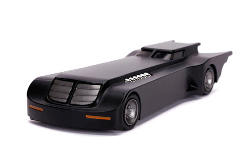 Animated Series Batmobile with Batman figure, Black - Jada Toys 31705/12 - 1/32 scale Diecast Model Toy Car