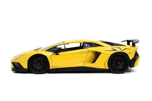 Lamborghini Aventador SV, Yellow - Jada Toys 32258/4 - 1/24 scale Diecast Model Toy Car