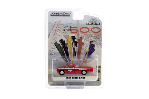 1965 Dodge D-200 Official Indy 500 Pickup Truck, Red - Greenlight 30184/48 - 1/64 scale Diecast Model Toy Car