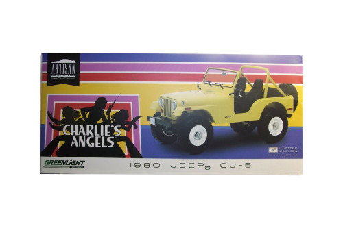 1980 Jeep CJ-5, Charlie's Angels - Greenlight 19078 - 1/18 scale Diecast Model Toy Car