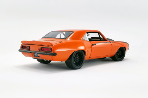 1969 Chevy Camaro Hardtop Street Fighter Inferno, Orange and Black - GMP 18906 - 1/18 scale Diecast Model Toy Car