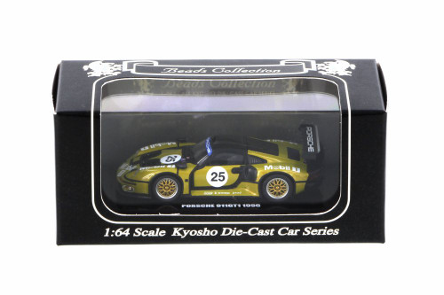 1996 Porsche 911 GT1, #25 - Kyosho K06521D - 1/64 scale Resin Model Toy Car