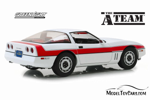 1984 Chevy Corvette C4 Hardtop, The A-Team - Greenlight 13532 - 1/18 scale Diecast Model Toy Car