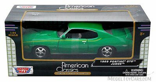 1969 Pontiac GTO Judge, Green - Motormax 73242 - 1/24 scale Diecast Model Toy Car
