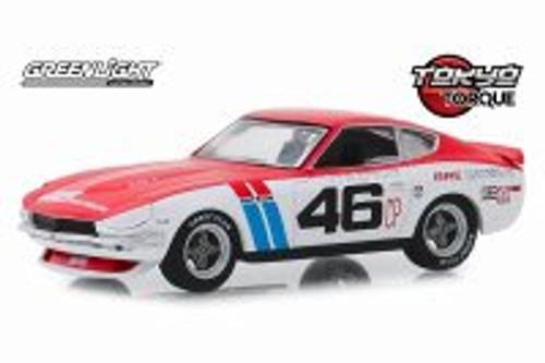 1971 Datsun 240Z Hardtop, Tokyo Torque BRE (Brock Racing Enterprises) #46 - Greenlight 86334 - 1/43 scale Diecast Model Toy Car