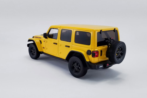 2019 Jeep Wrangler Rubicon, Yellow - GT Spirit US026 - 1/18 scale Resin Model Toy Car