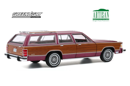 1985 Mercury Grand Marquis Colony Park, Burgundy - Greenlight 19093 - 1/18 scale Diecast Model Toy Car