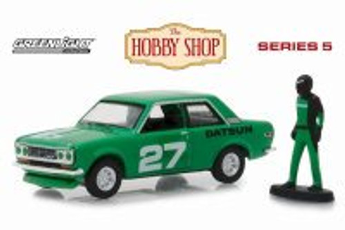 1970 Datsun 510 with Race Car Driver, #27 - #27light 97050C/48 - 1/64 scale Diecast Model Toy Car