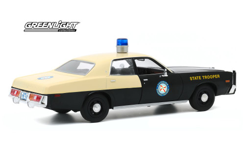 Florida Highway Patrol 1978 Plymouth Fury, Black /Yellow - Greenlight 85512/12 - 1/24 scale Diecast Model Toy Car