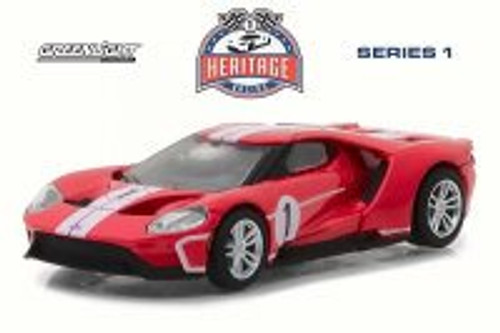 2017 Ford GT Tribute, Red - Greenlight 13200/48 - 1/64 Scale Diecast Model Toy Car