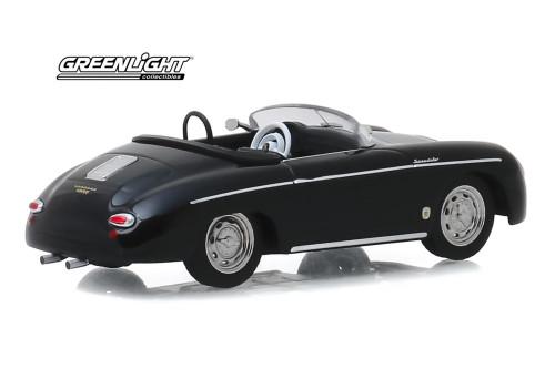 1958 Porsche 356 Speedster Super, Black - Greenlight 86539 - 1/43 scale Diecast Model Toy Car